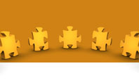 Yellow Jigsaw Presentation Template
