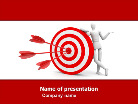 reach target presentation template for powerpoint and keynote | ppt star, Target Corporation Powerpoint Presentation Template, Presentation templates