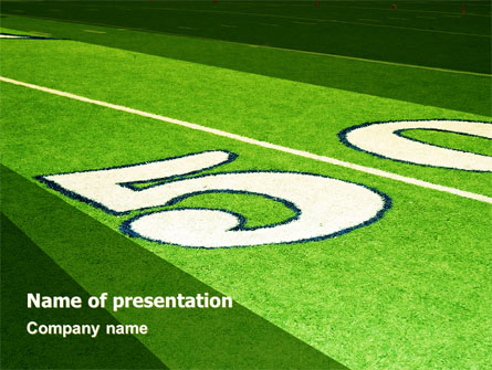 american football field presentation template for powerpoint and, Powerpoint