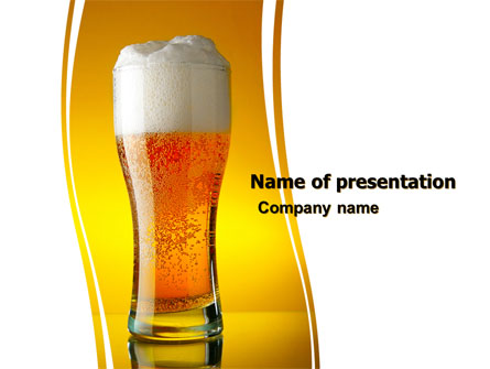 Goblet Of Beer Foaming Presentation Template Master Slide