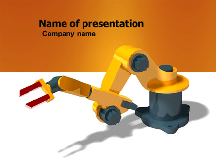 production line robots presentation template for powerpoint and