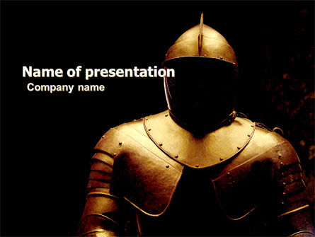 Knight Armour Presentation Template, Master Slide