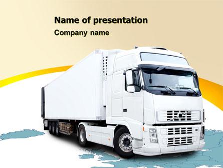 Truck Tractor Presentation Template, Master Slide