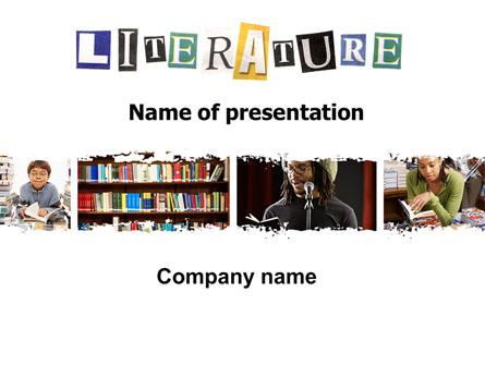 Literature Presentation Template, Master Slide