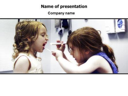 Children's Dental Health Presentation Template, Master Slide