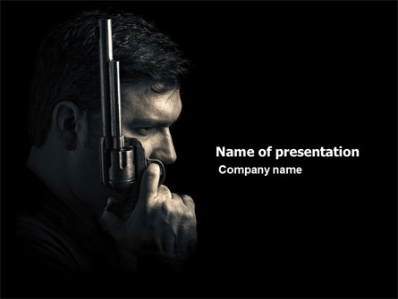 Man with a Gun Presentation Template, Master Slide