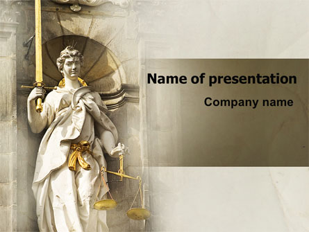 Lady Justice Presentation Template For Powerpoint And