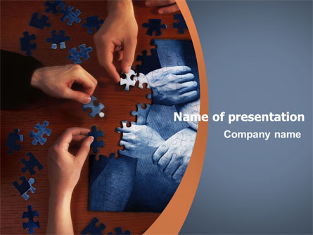 Team building puzzle presentation template for powerpoint for Team building powerpoint presentation templates