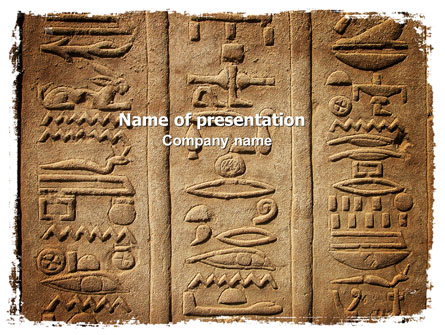 egyptian petroglyphs presentation template for powerpoint