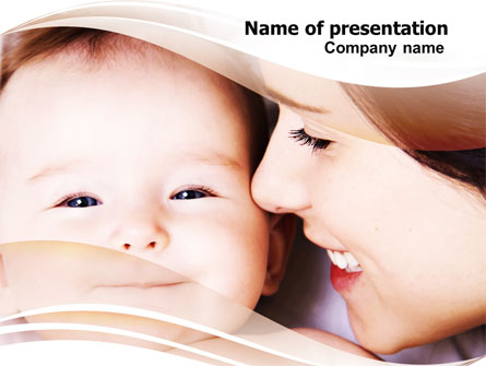 Baby Smile Presentation Template, Master Slide