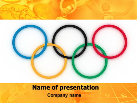 Olympic Games Rings Presentation Template For Powerpoint And Keynote