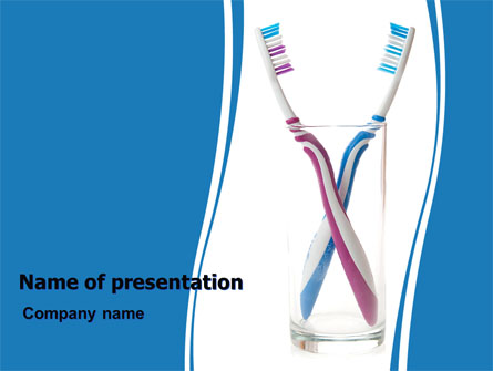 Toothbrushes Free Presentation Template, Master Slide