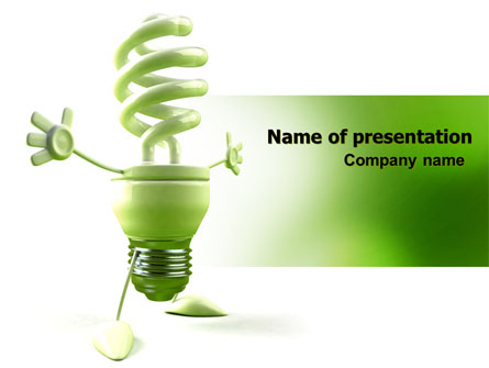 energy save lamp presentation template for powerpoint and keynote, Presentation templates