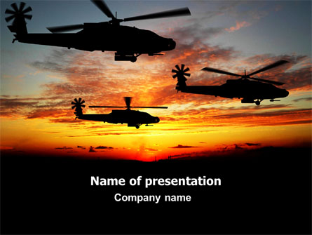 Apache Helicopter AH-64 Presentation Template, Master Slide