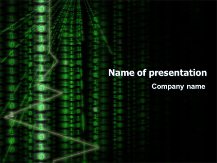 Matrix Code Stream Presentation Template for PowerPoint and Keynote