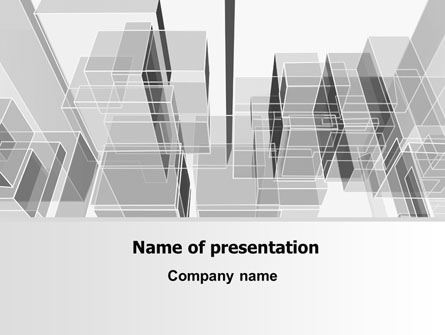 abstract architecture presentation template for powerpoint