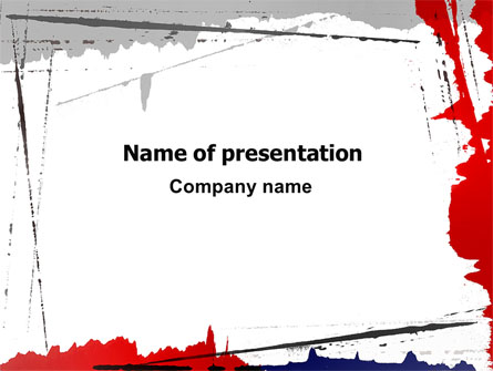 blood splatter theme presentation template for powerpoint and keynote