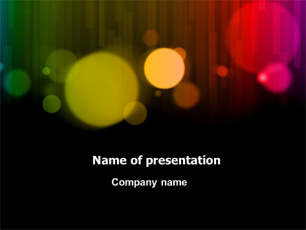 Rainbow Bokeh Presentation Template for PowerPoint and Keynote | PPT
