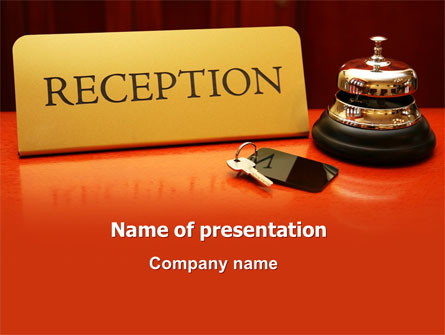 hotel reception presentation template for powerpoint and keynote, Modern powerpoint