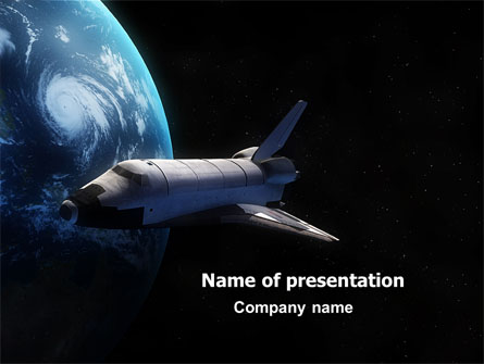 space shuttle presentation template for powerpoint and keynote, Presentation templates