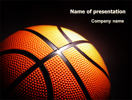 Basketball Ball On Nba Colors Floor Presentation Template For