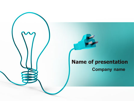 Electric Light Bulb Presentation Template For Powerpoint