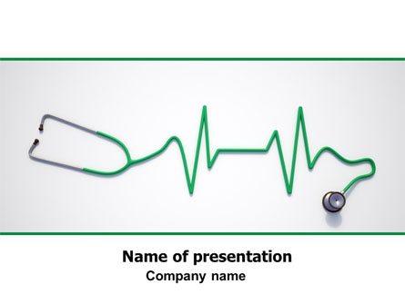 stethoscope diagram presentation template for powerpoint and, Powerpoint templates