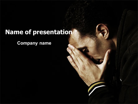Distress Presentation Template, Master Slide