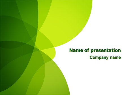 Green Theme Presentation Template For Powerpoint And