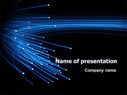 Optical fiber cable presentation template for powerpoint and.