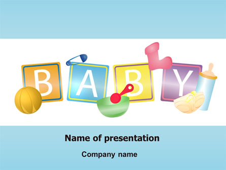 Baby Theme Presentation Template For Powerpoint And Keynote Ppt Star