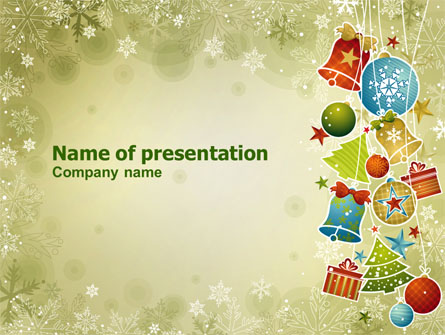 christmas holiday theme presentation template for powerpoint and