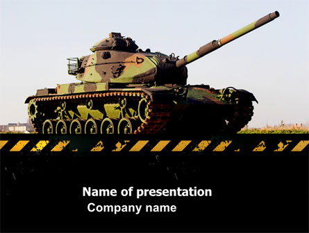 Tank Presentation Template, Master Slide