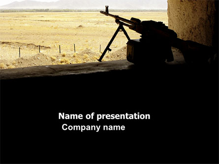 Machine Gun Presentation Template, Master Slide