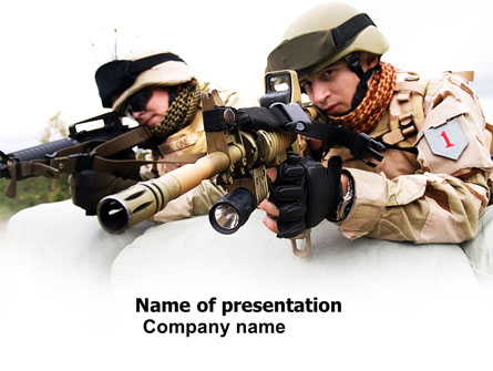 Soldiers In Iraq Presentation Template, Master Slide