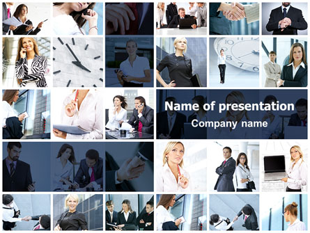 office life collage presentation template master slide