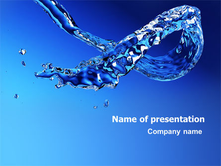 blue water presentation template for powerpoint and keynote  ppt star, Templates