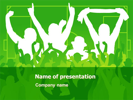 Soccer fan presentation template for powerpoint and keynote ppt star soccer fan presentation template master slide toneelgroepblik Gallery