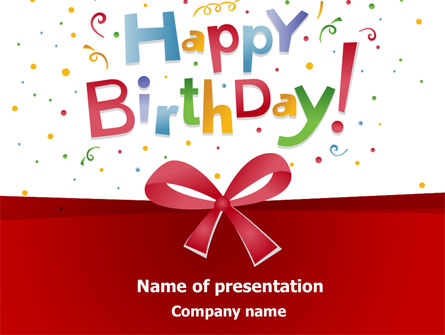 Happy Birthday Bow Presentation Template For Powerpoint And Keynote