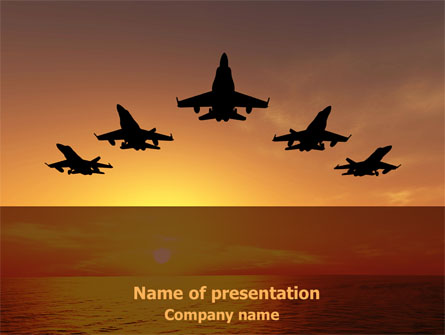 Aircraft Parade Presentation Template, Master Slide
