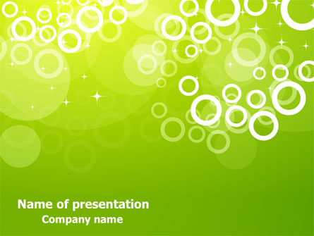green bubbles theme presentation template for powerpoint and keynote