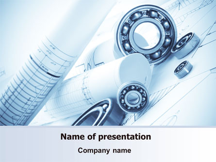 Mechanical Sketch Presentation Template For Powerpoint And Keynote