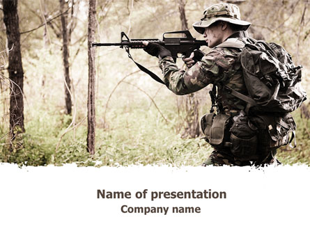 Camouflage soldier presentation template for powerpoint and keynote camouflage soldier presentation template master slide toneelgroepblik Image collections