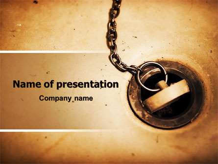 Drain Presentation Template, Master Slide