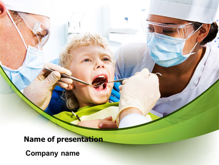 Children's Stomatology Presentation Template, Master Slide