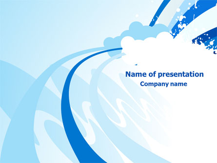 Blue Cloud Abstract Presentation Template For Powerpoint And Keynote
