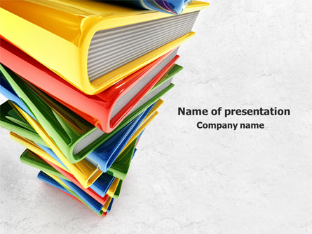 Pile of books presentation template for powerpoint and keynote pile of books presentation template master slide toneelgroepblik Image collections