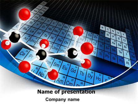 Periodic Table Of Chemical Elements Presentation Template ... Chemistry Atoms Wallpaper