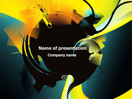 music themed powerpoint templates - modern music theme presentation template for powerpoint