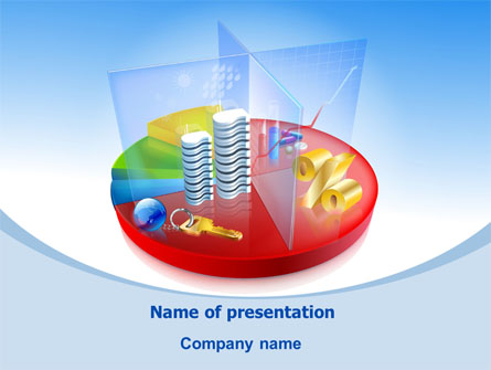 Business Pie Chart Presentation Template For Powerpoint And Keynote